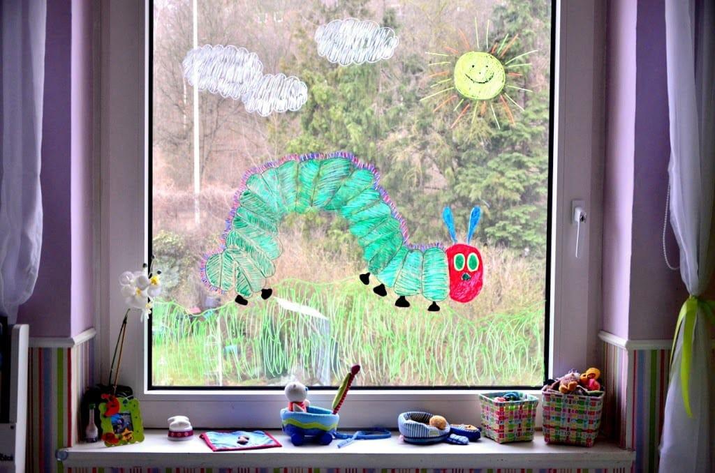 Ein abwechslungsreiches wochenende familienleben baby - Fenster bemalen ...