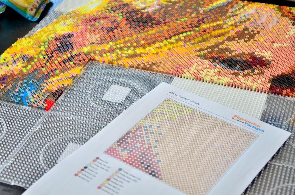 Spielzeug WunderschöNen Steckperlen Maxi Mit 3 Platten Basteln & Kreativität