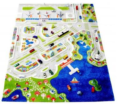 3D-Spielteppich - Baby, Kind und Meer