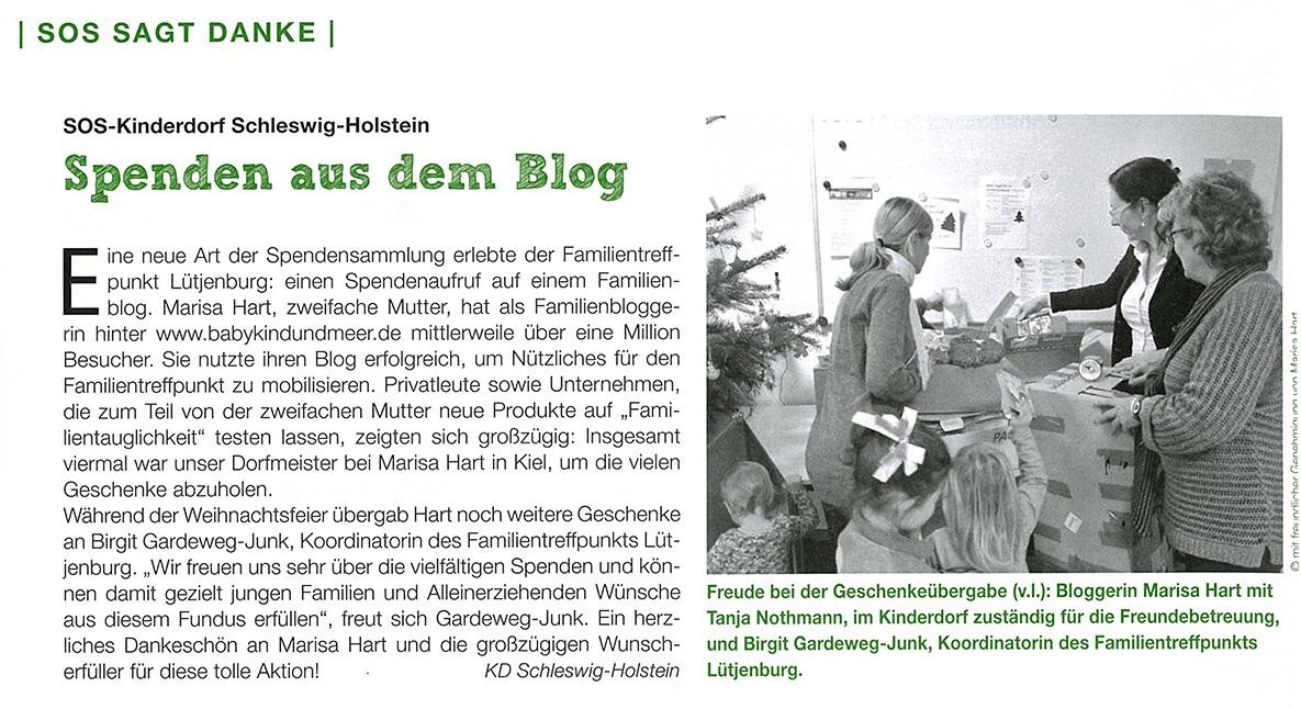 SOS Kinderdorf SH Spenden Aus Dem Blog