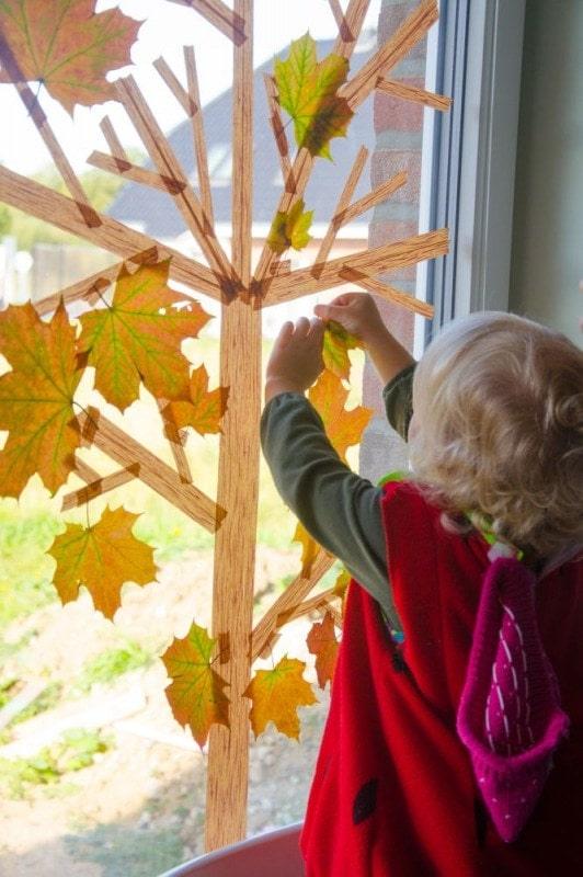 Masking Tape Herbstbaum 12