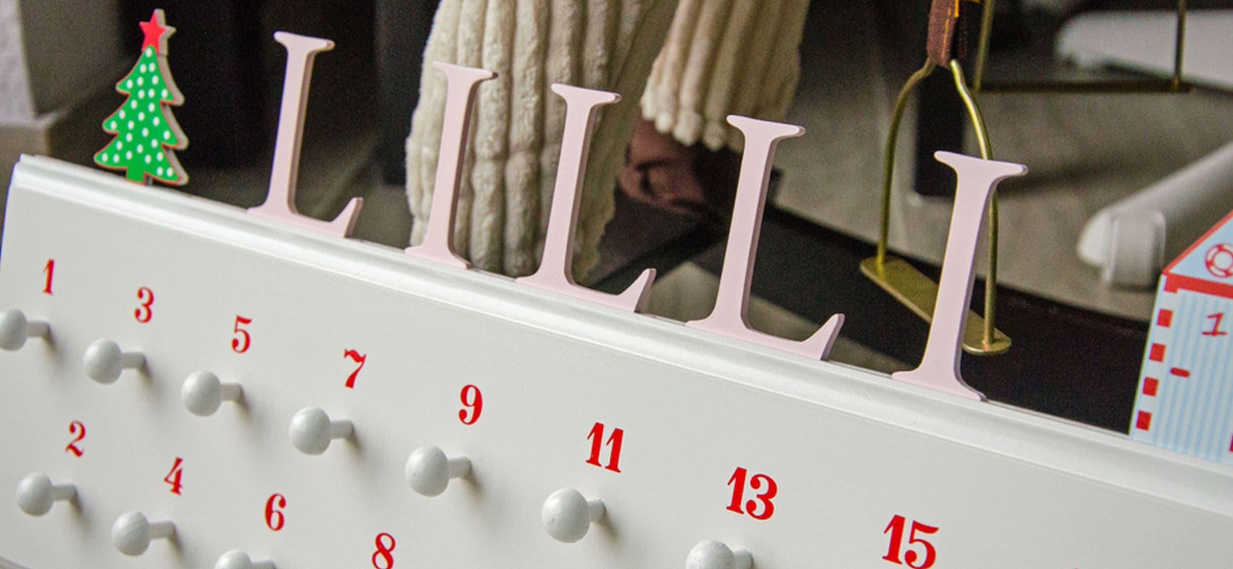 adventskalender aus holz sch nes n tzliches baby. Black Bedroom Furniture Sets. Home Design Ideas