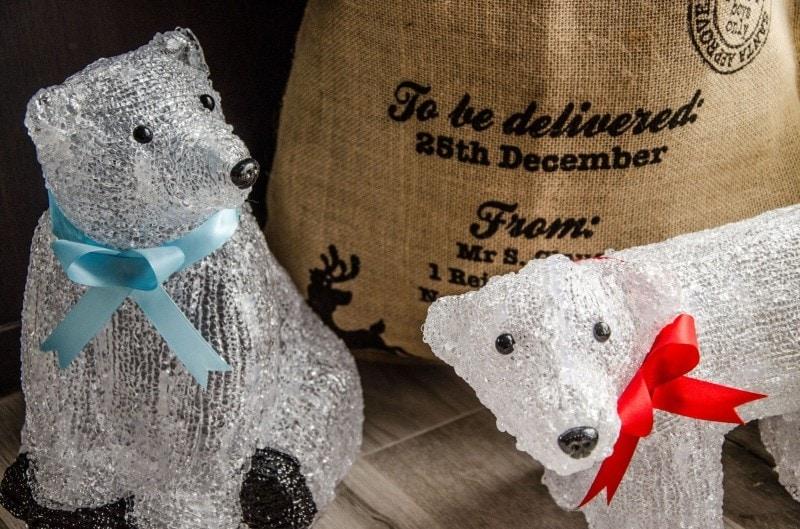 Eisbären und Jutesack