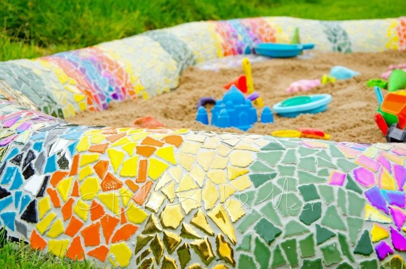 Mosaik Schlange fertig (2)