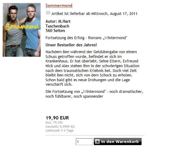 Sommermond Bestseller