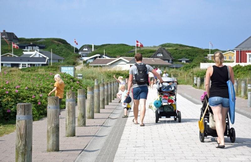 am Strand Sondervig