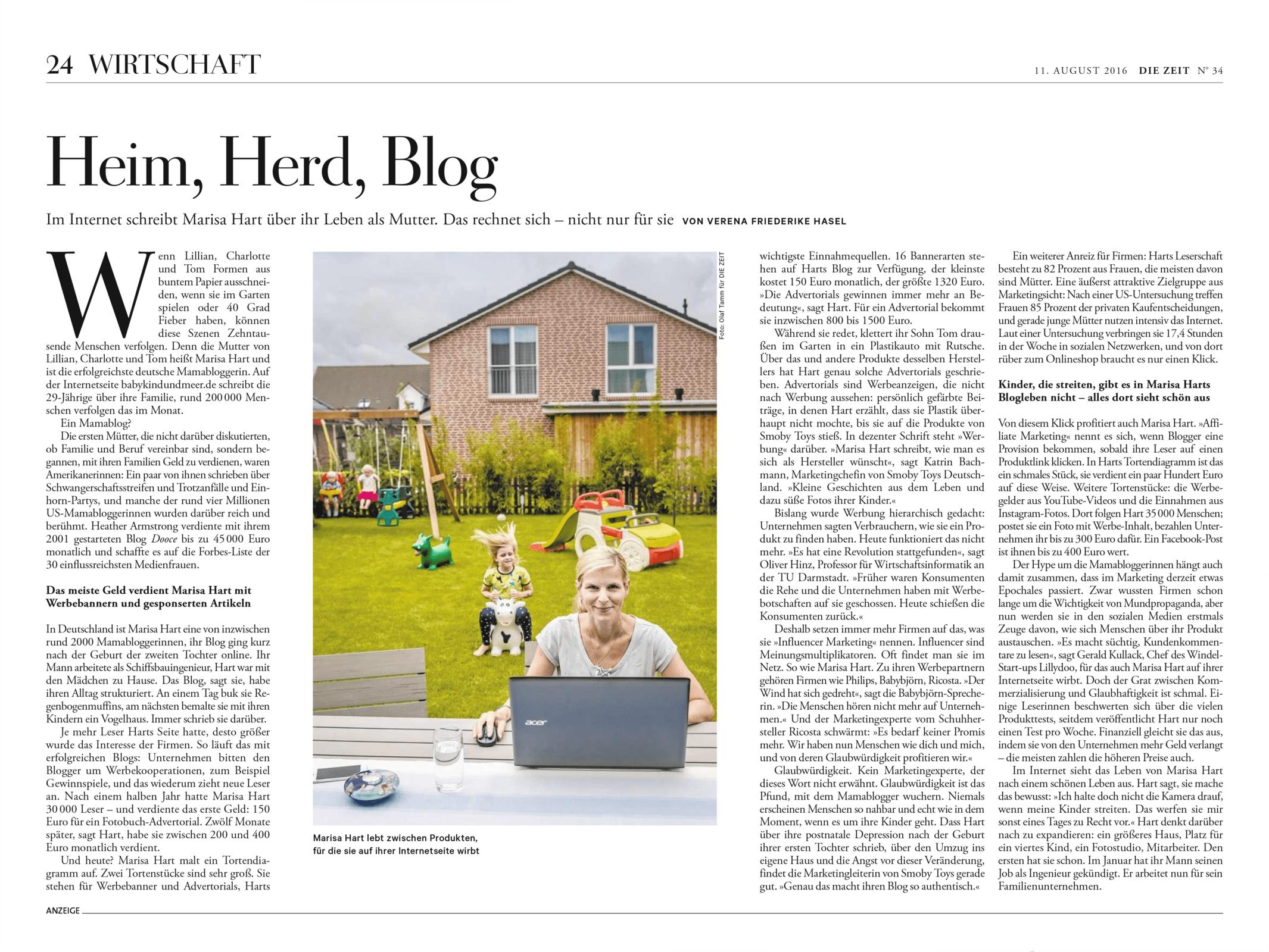 Die Zeit 20160811 Heim Herd Blog