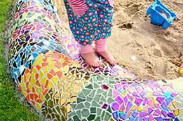 Mosaik Sandkiste