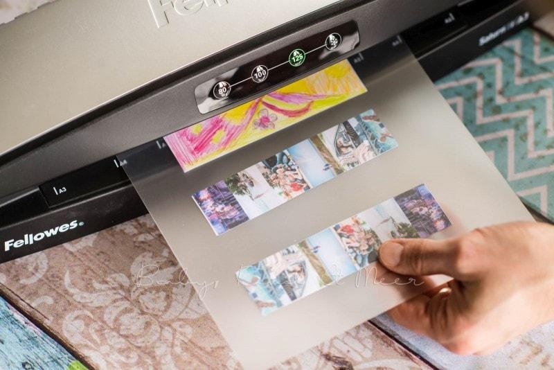 Lesezeichen basteln individuelle Briefmarke deutsche Post 11