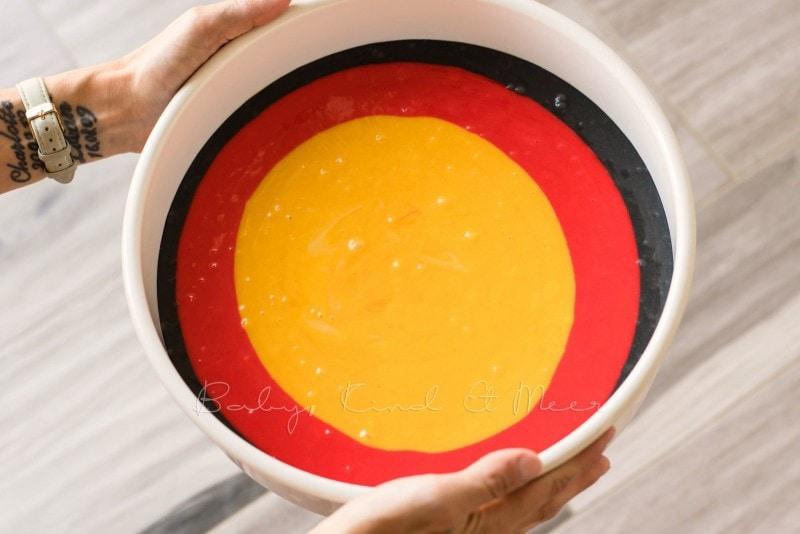 Deutschland Kuchen Regenbogenkuchen 12