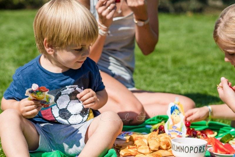 Familienpicknick im Garten 9