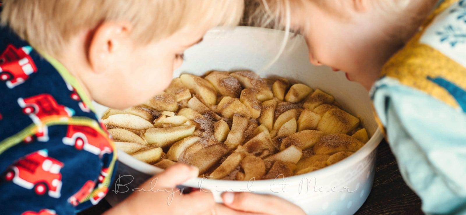 Apfelkuchen Rezept babykindundmeer