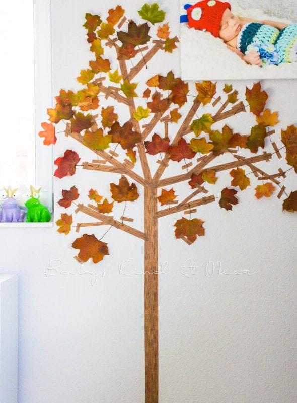 Basteln im Herbst Masking Tape Herbstbaum 3
