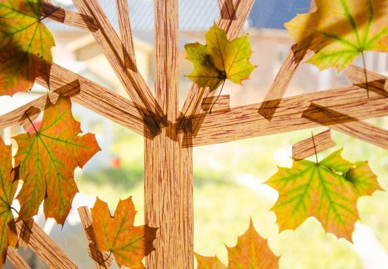Basteln im Herbst Masking Tape Herbstbaum 5