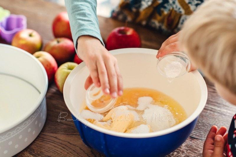 Versunkener Apfelkuchen Rezept 1