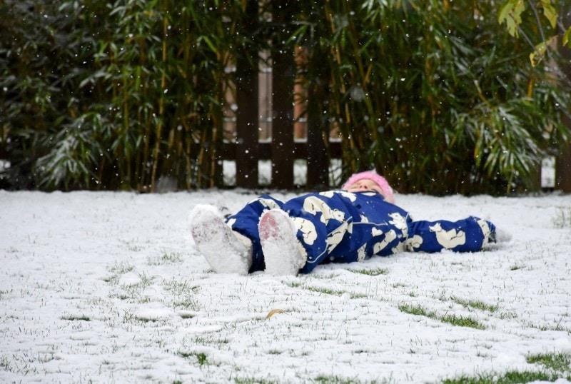 erster Schnee im Garten 6