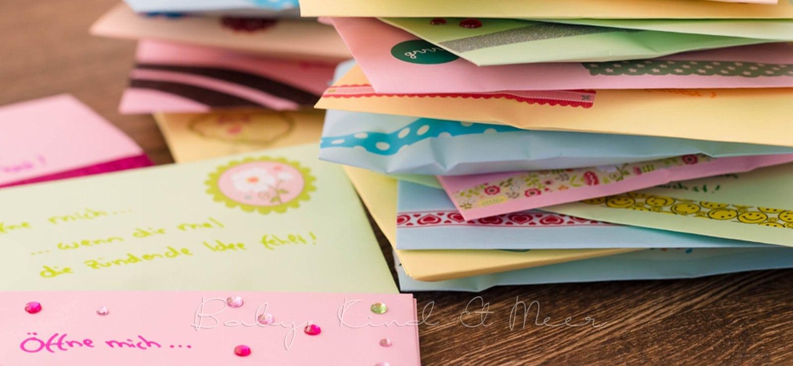 Geschenkidee Offne Wenn Briefe Diy Inspirationen Baby Kind Und Meer