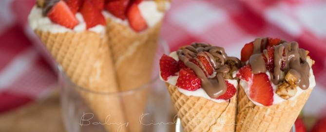 Erdbeer Mascarpone Eiswaffeln 10