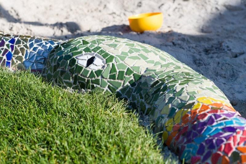 Mosaik Sandkasten Schlange 2