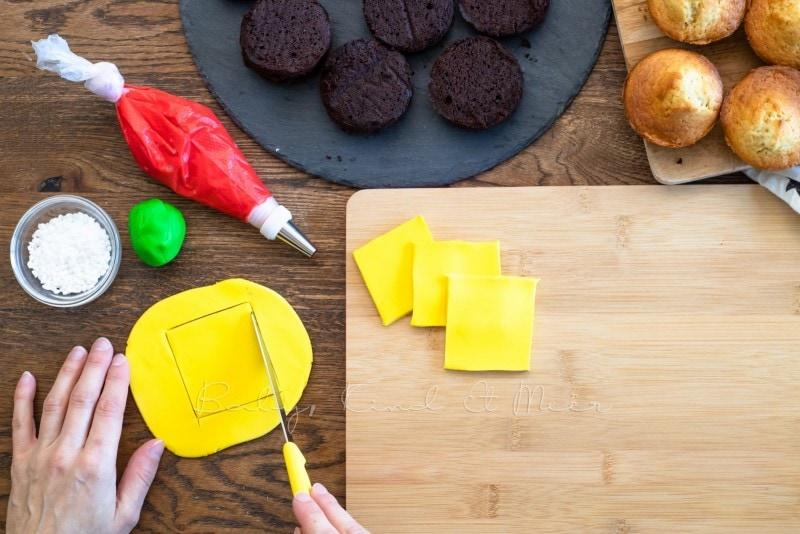 Cheeseburger Muffins mit Kekspommes 21