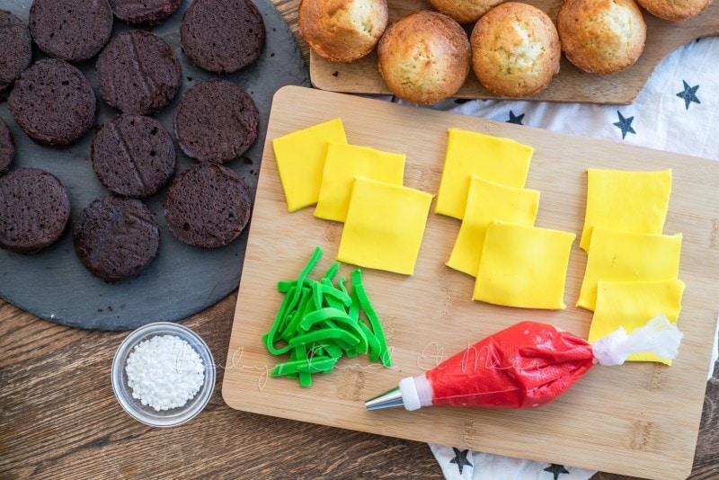 Cheeseburger Muffins mit Kekspommes 22