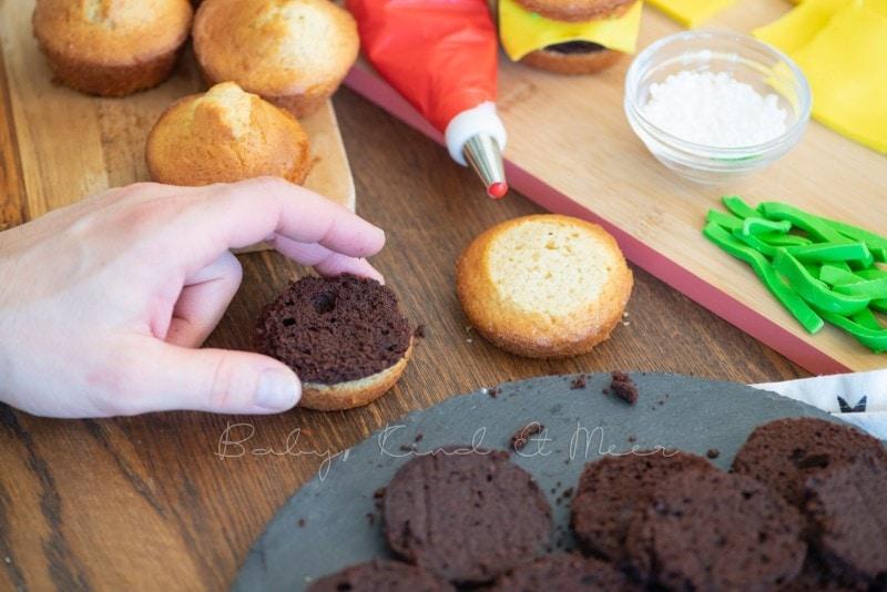 Cheeseburger Muffins mit Kekspommes 26