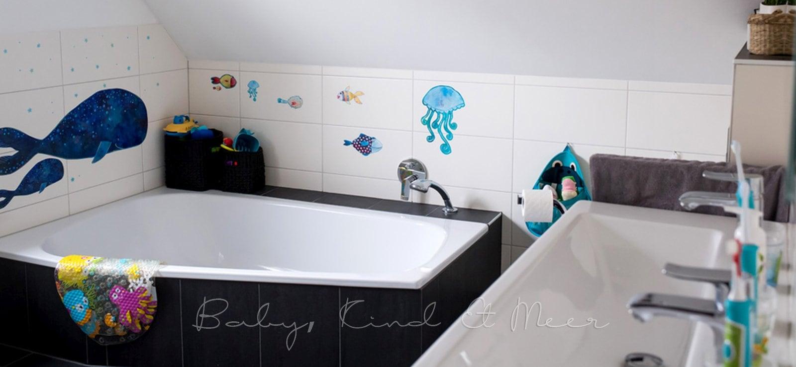 UNSER BADEZIMMER: ROOMTOUR - Hausbau & Garten - Baby, Kind und Meer