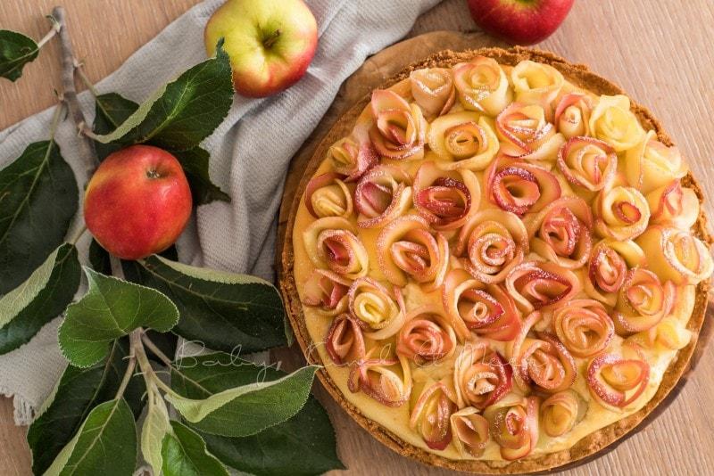 Apfelkuchen Kaesekuchen Apfelrosen 11