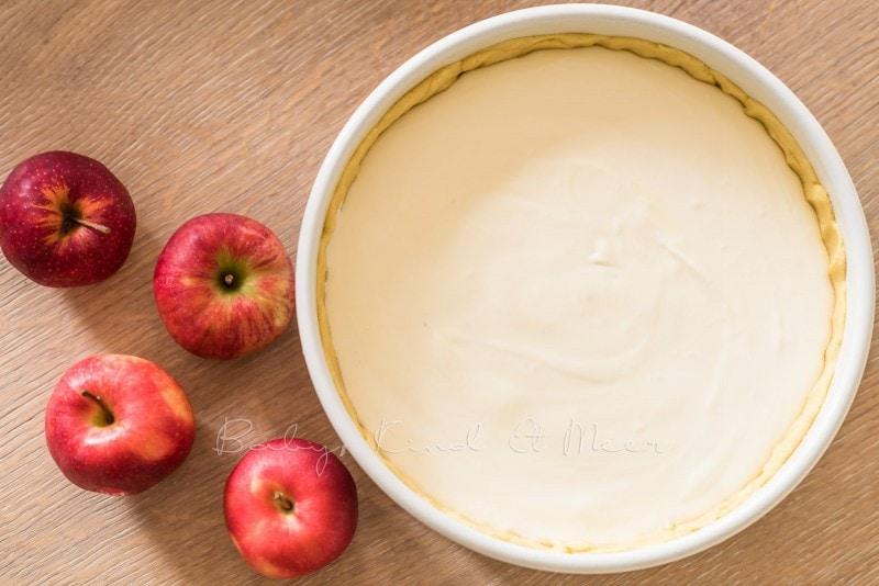 Apfelkuchen Kaesekuchen Apfelrosen 4