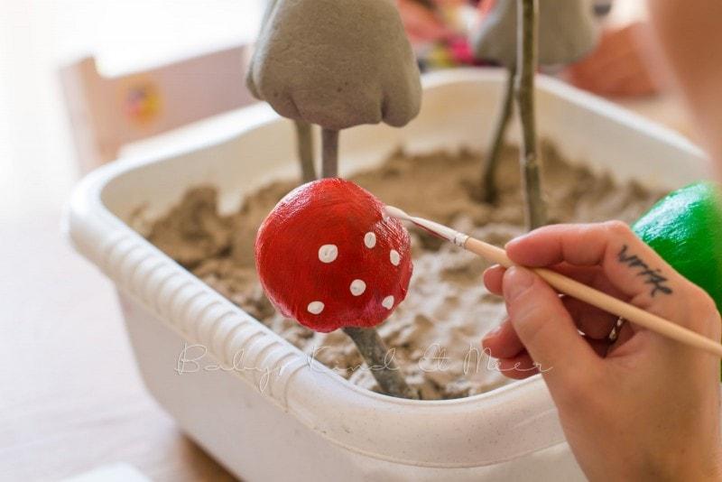 Pilze aus Knetbeton 1