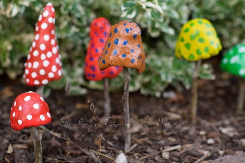 Pilze aus Knetbeton 9