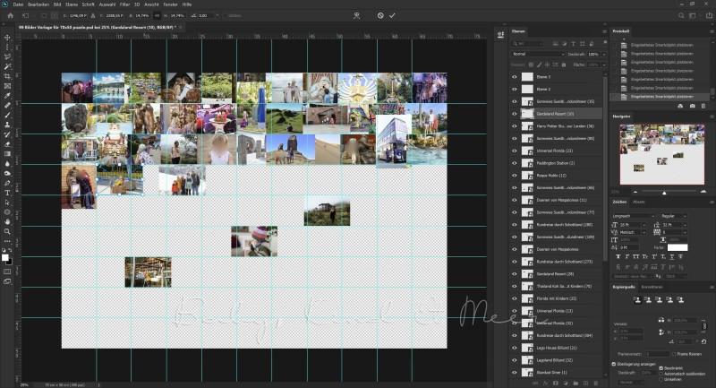 Fotocollage Puzzle erstellen freigestellt
