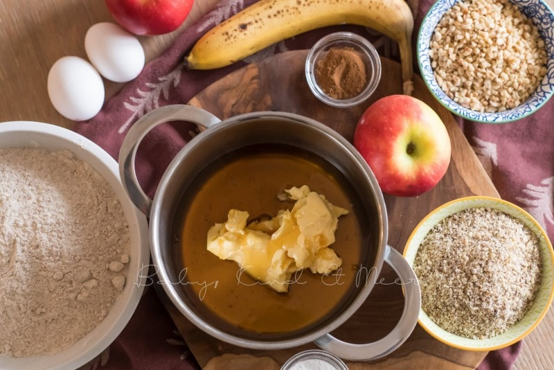 Honig Bananen Apfelkuchen Rezept babykindundmeer 3